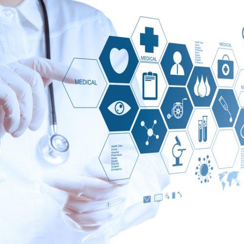 medizin arzt hände arbeiten mit modern computer verbindung